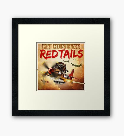 """WINGS Series """"P-51 RED TAILS"""" Framed Print"""