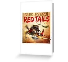 "WINGS Series ""P-51 RED TAILS"" Greeting Card"