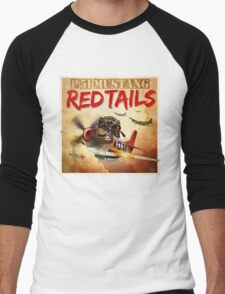 "WINGS Series ""P-51 RED TAILS"" Men's Baseball ¾ T-Shirt"