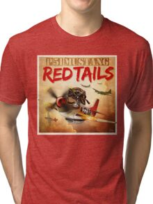 "WINGS Series ""P-51 RED TAILS"" Tri-blend T-Shirt"