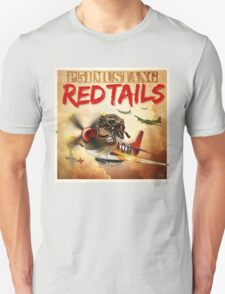 """WINGS Series """"P-51 RED TAILS"""" Unisex T-Shirt"""