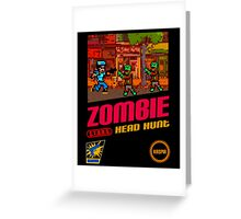 Zombie Head Hunt Greeting Card