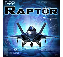 "WINGS Series ""F22 RAPTOR"" Photographic Print"