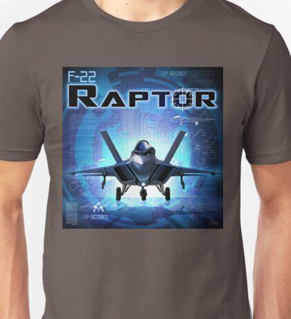 """WINGS Series """"F22 RAPTOR"""" Unisex T-Shirt"""