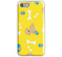 Seamless background with toys iPhone Case/Skin