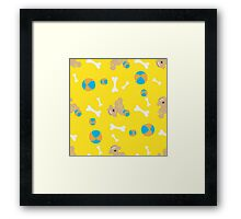 Seamless background with toys Framed Print