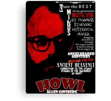 Allen Ginsberg Howl - Beat Poem Author T-shirt Canvas Print