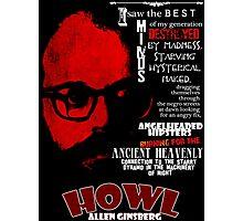 Allen Ginsberg Howl - Beat Poem Author T-shirt Photographic Print