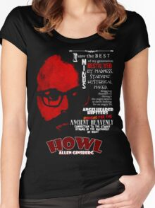 Allen Ginsberg Howl - Beat Poem Author T-shirt Women's Fitted Scoop T-Shirt