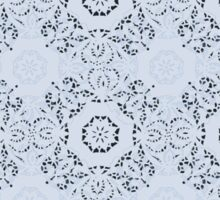 Lace Inspired Elegant Pattern - Light Blue Sticker