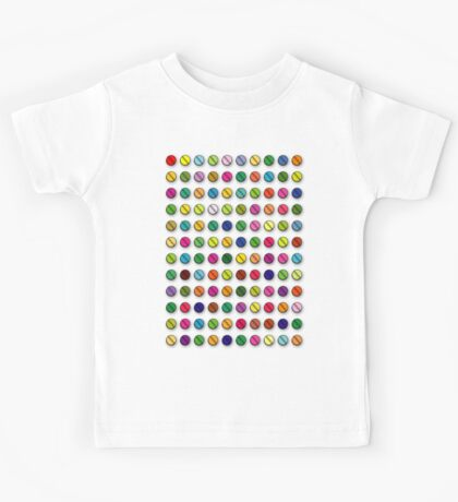 Multi-coloured Pills Pattern Kids Tee