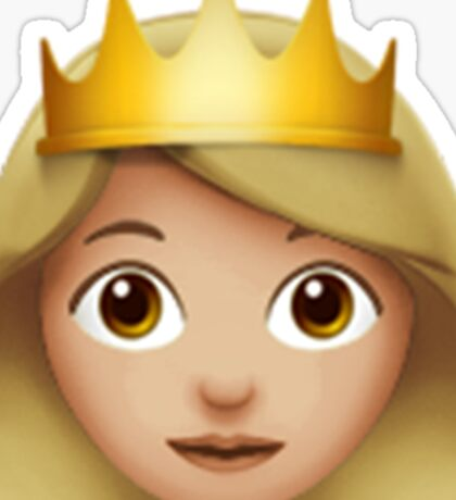 Emoji Queen (Blonde) Sticker