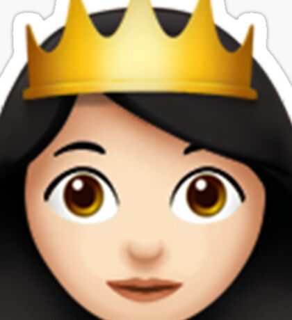 Emoji Queen (White/Asian) Sticker