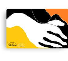 2 X Hands -(290814)- Digital artwork: MS Paint/Mouse drawn Canvas Print