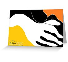 2 X Hands -(290814)- Digital artwork: MS Paint/Mouse drawn Greeting Card