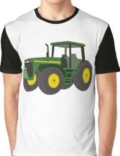 Green Farming Tractor Graphic T-Shirt