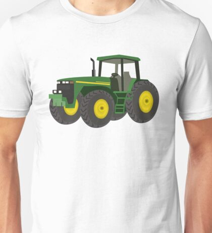 Green Farming Tractor Unisex T-Shirt