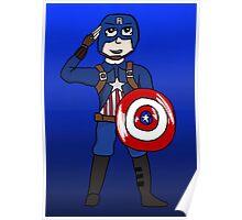 Cute Captain America Poster