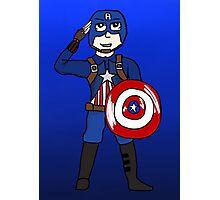 Cute Captain America Photographic Print