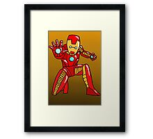 Cute Iron Man Framed Print