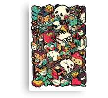 Isometric City (Colored) Canvas Print