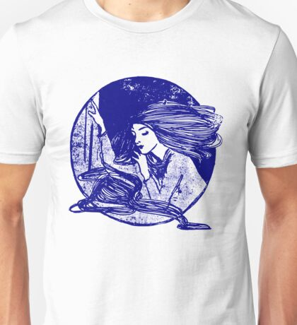 Thoughtful Lady (Art Drawing) Unisex T-Shirt