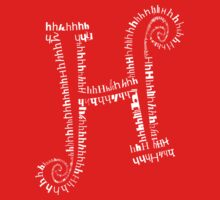Typographic H letter One Piece - Short Sleeve