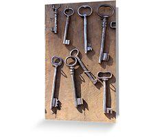 old set of keys Greeting Card