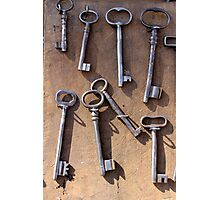 old set of keys Photographic Print