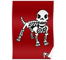 Poly Dog Red Background Poster