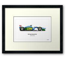 Michael Schumacher - Benetton Ford B194  Art Print Framed Print