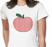 Striped Apple Art Womens Fitted T-Shirt