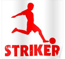 Soccer Player Striker Poster