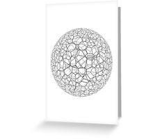 Spongy black and white ball Greeting Card