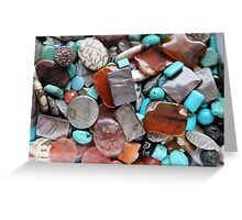 colored stones Greeting Card
