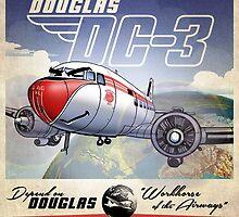 """WINGS Series """"DC-3"""" by Pat McNeely"""