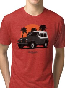 Jeep Wrangler (YJ) (black) Tri-blend T-Shirt