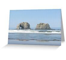Twin Rocks, Rockaway, Oregon Greeting Card