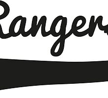 Rangers Swirl T-Shirt Apparel by springwoodbooks