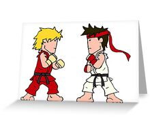 Street Brawler II (Wee-Guys) Greeting Card