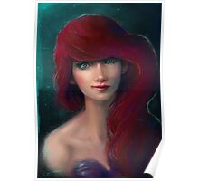 the little mermaid realistic Poster