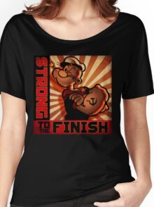 """POPEYE- Strong to the Finish""  Women's Relaxed Fit T-Shirt"