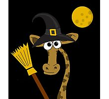 Halloween - giraffe witch  Photographic Print