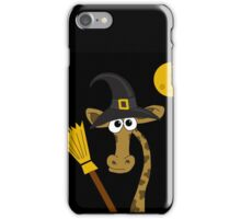 Halloween - giraffe witch  iPhone Case/Skin