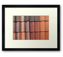 background with tiles Framed Print