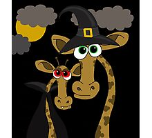 Halloween giraffe party Photographic Print