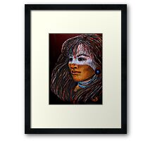 The Ghost Mask Framed Print