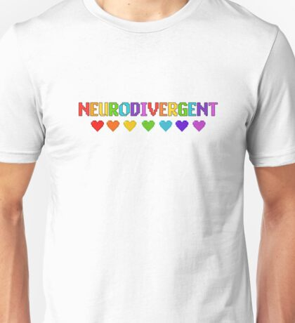 Pixelated Neurodivergent With Hearts T-Shirt