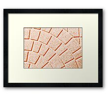 colors and abstract shapes Framed Print