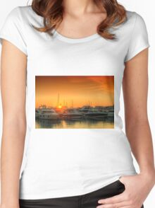 Marina Sunset Women's Fitted Scoop T-Shirt